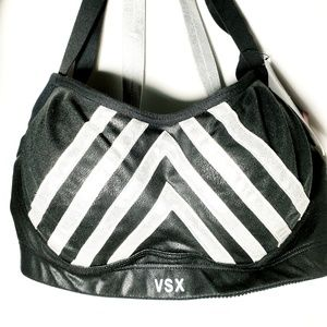 NWT Victoria's Secret leather look sports bra